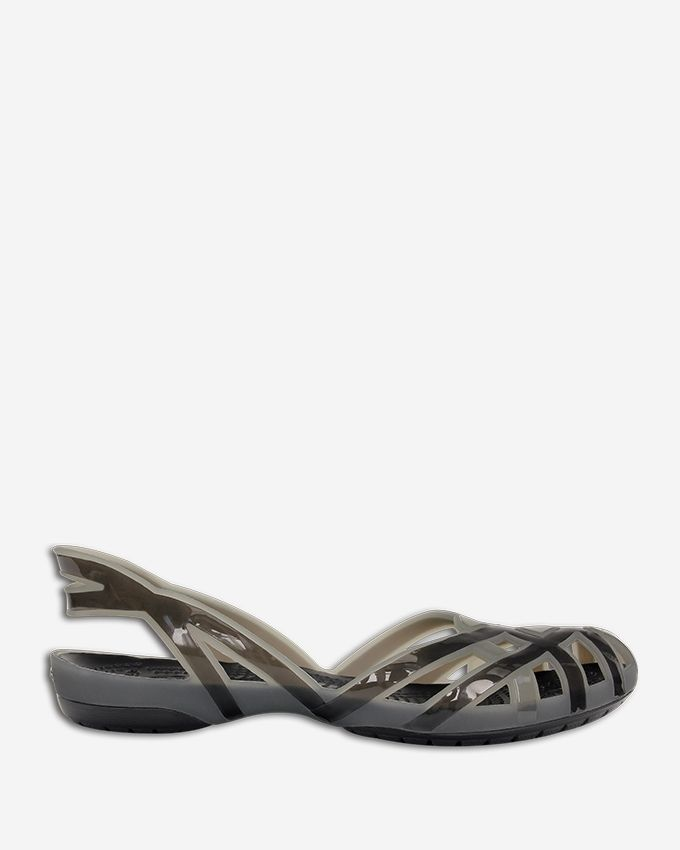 5fa88c1edc9e Crocs Huarache Slingback Flat Girls - Silver Onyx