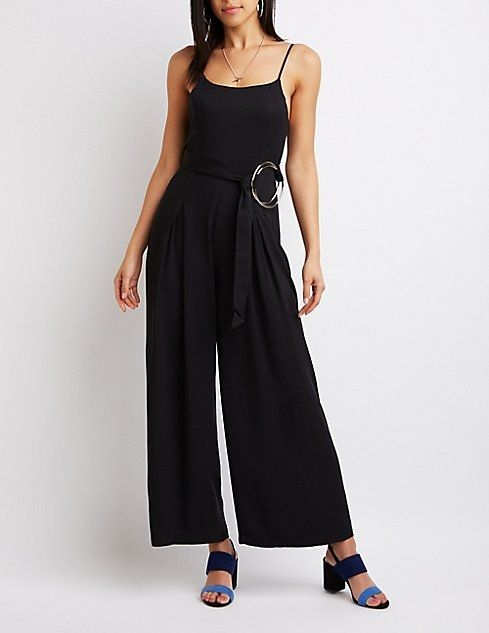 51cb76019958 Charlotte Russe Ring Belt Wide Leg Jumpsuit. updating Prices