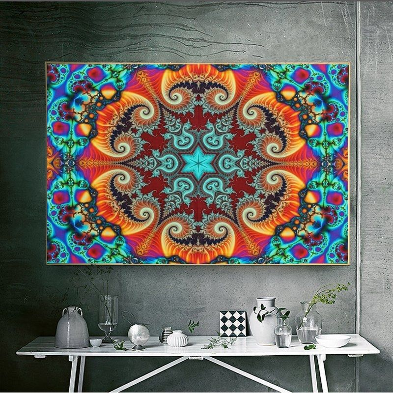 . Universal 24x36 Inch Psychedelic Trippy Art Silk Poster Symmetry