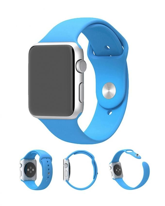 15bc534ec Generic XINCUCO Soft Silicone Sport Wristband - For Apple Watch 42mm Series  1 Series 2 Series 3 - Blue