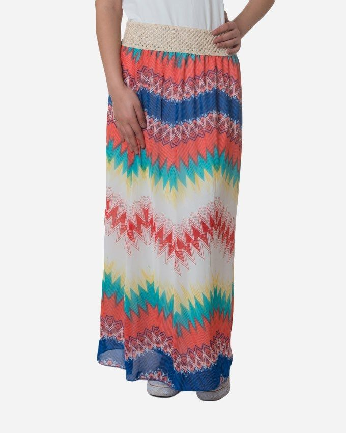 Andora Maxi Printed Skirt - Watermelon