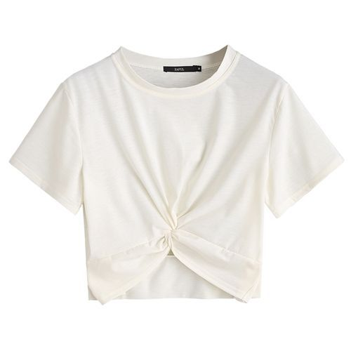 a151188dc03 Zaful Women Casual Twist Cropped Top - White Price in Egypt | Jumia ...