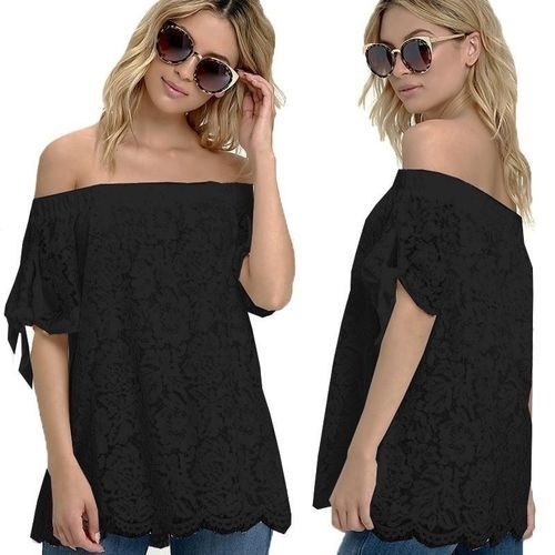 507bee634db Fashion ZANZEA Fashion Blusas Women Summer Off Shoulder Lace Blouse ...