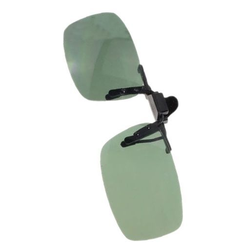 b2ee3d80f0178 Fashion Unisex Day Night Vision Clip-on Flip-up Lens SunglDriving Glasses  Practical Dark Green