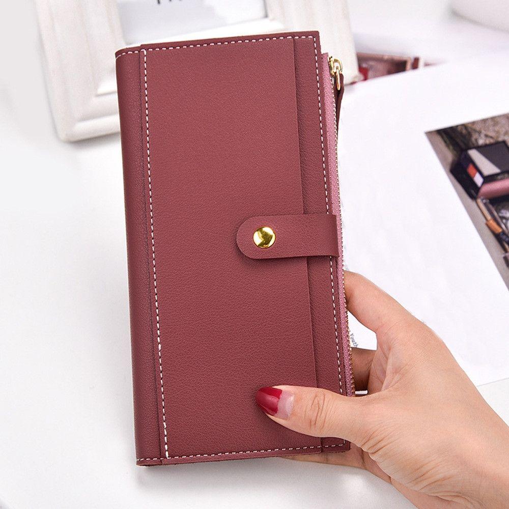 777c6c00c0dde No Brand Tectores Women Fashion Trend Leather Wallet Zipper Clutch Purse  Lady Long Handbag Bag