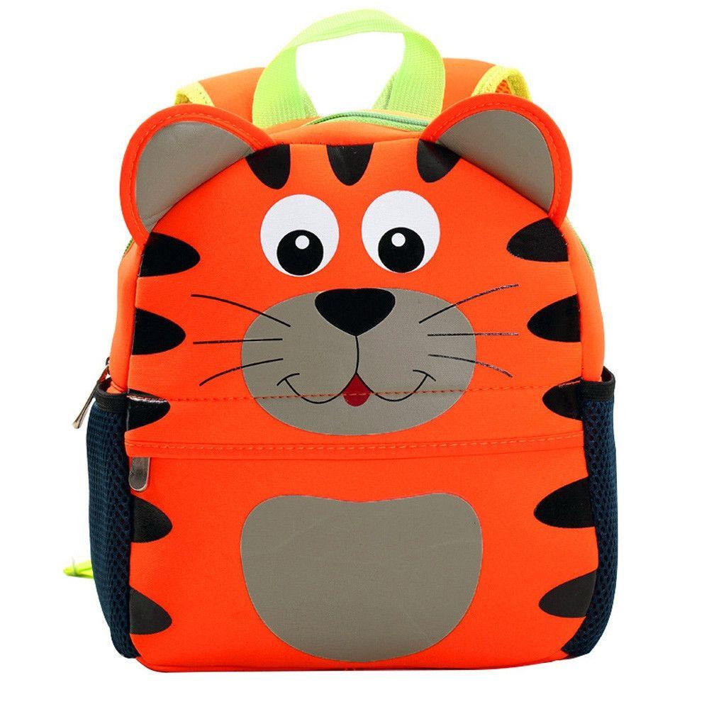 Neworldline Child Backpack Toddler Kid School Bags Kindergarten Cartoon  Shoulder Bookbags- Orange ec404afb977fc