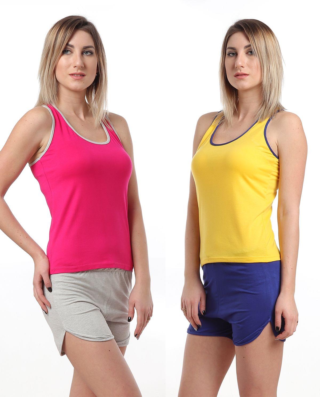 052cd05e36db No Brand Bundle Of 2 Home Solid Hot Short Pajamas - Fuchsia