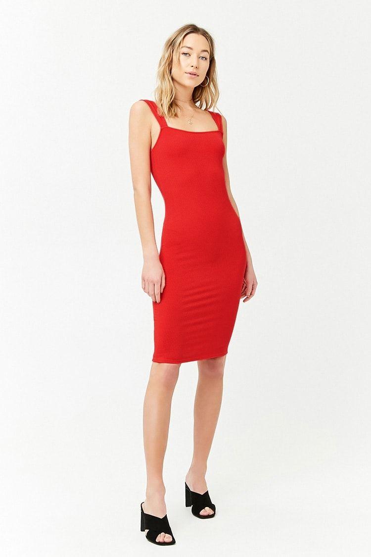 Forever21 Ribbed Midi Dress Dresses Kanbkam Com