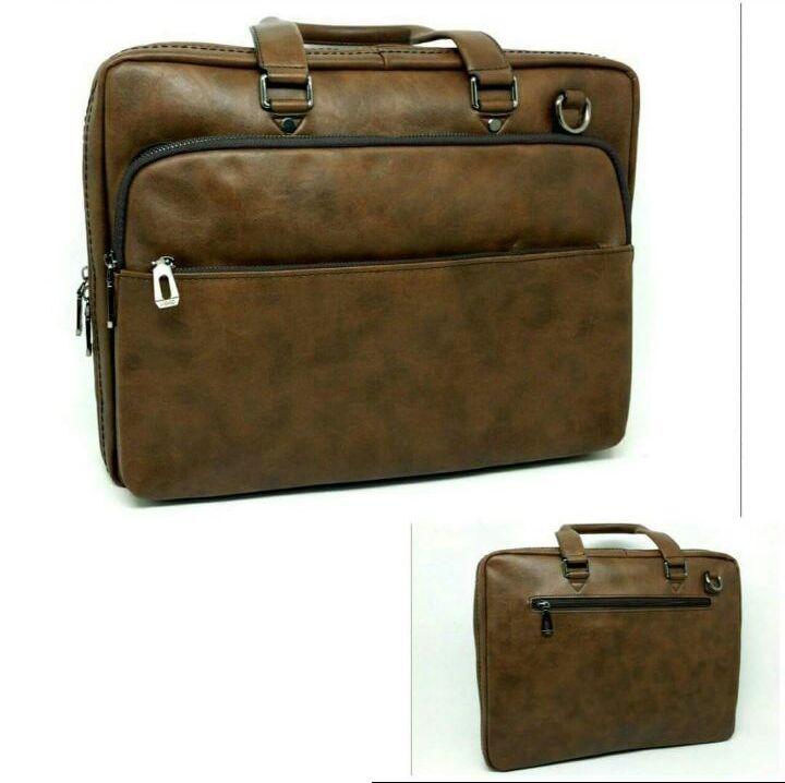 78d95d904 Generic شنطة يد لابتوب جلد رجالي - بني   حقائب لإستخدامات متخصصة ...