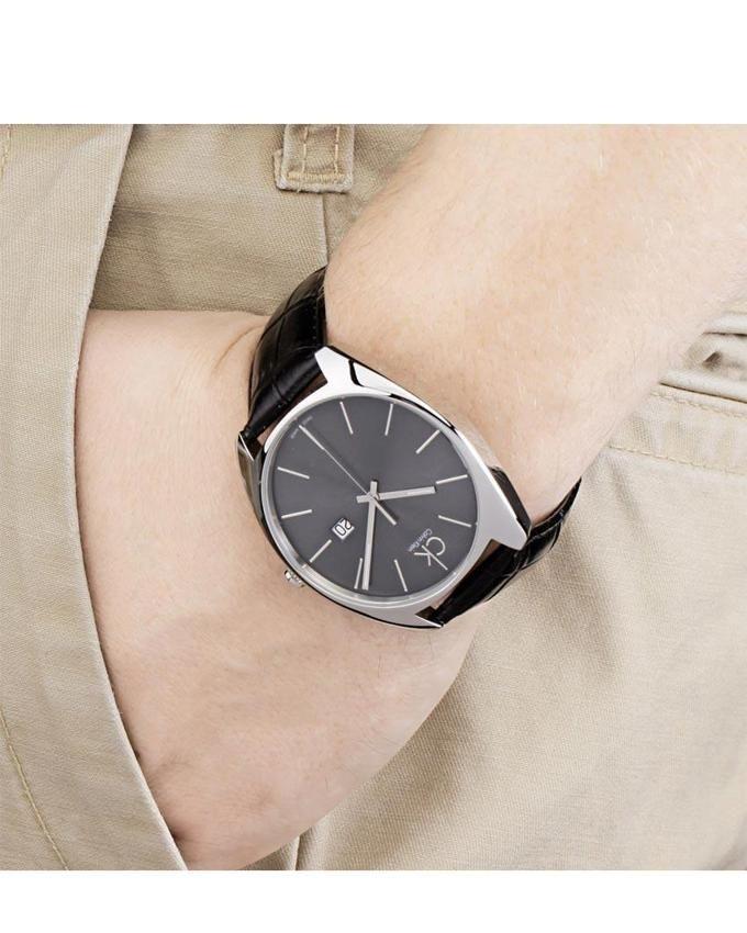677274e38c38d Calvin Klein K2F21107 Genuine Leather Men s Exchange Watch - Black