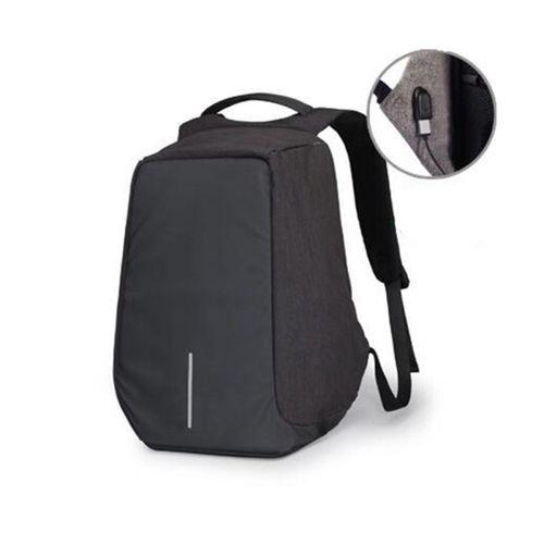 8d198a330b2e2 Universal Men Anti-Theft Waterproof Backpack USB Charging Port Travel  School Bag Rucksack Black