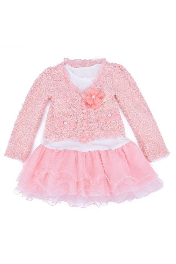 26b3483cd3c6 سعر Sunweb Kids Girls Lace Skirt Dress+Coat Jacket 2Pcs Set Party ...