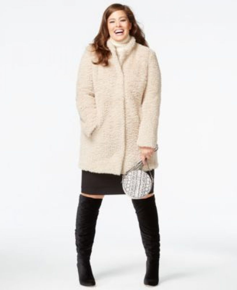 8cf800cdcd Charlotte Russe Plus Size Faux-Fur Coat. updating Prices