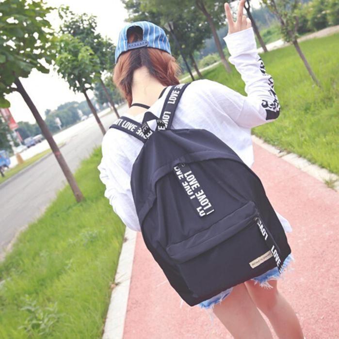 Generic Fashion Girls Boys Letter School Bag Travel Backpack Satchel Women  Shoulder Rucksack b8c595acf17f3