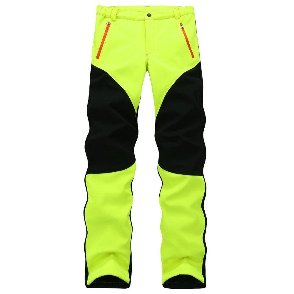 bca538ca2 Fashion Mens Outdoor Sport Pants Elastic Soft Shell Warm Fleece ...
