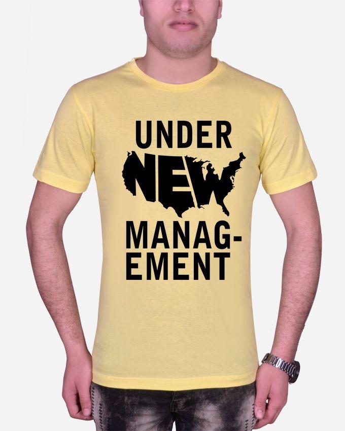 Marley Round Neck NEW MANAG T-shirt – yellow