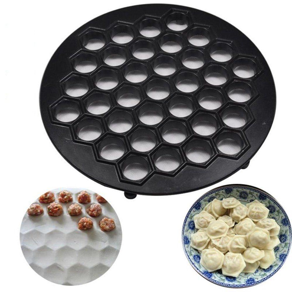 Aluminum Non-stick Dumpling Mante Ravioli Pierogi Pelmeni Mold Maker Press Black