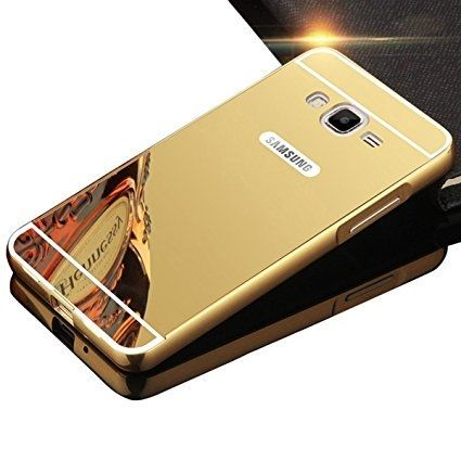 No Brand Mirror Case For Samsung Grand Prime Plus G532 Gold