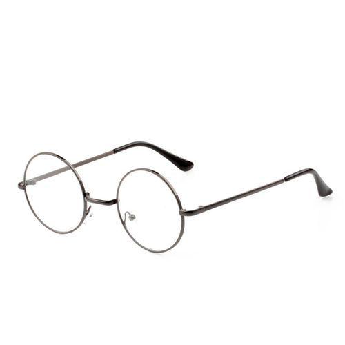 45ad571561 Fashion Metal Round Decorative Mirror Harajuku Men And Women Models Plain  Glasses - Gray