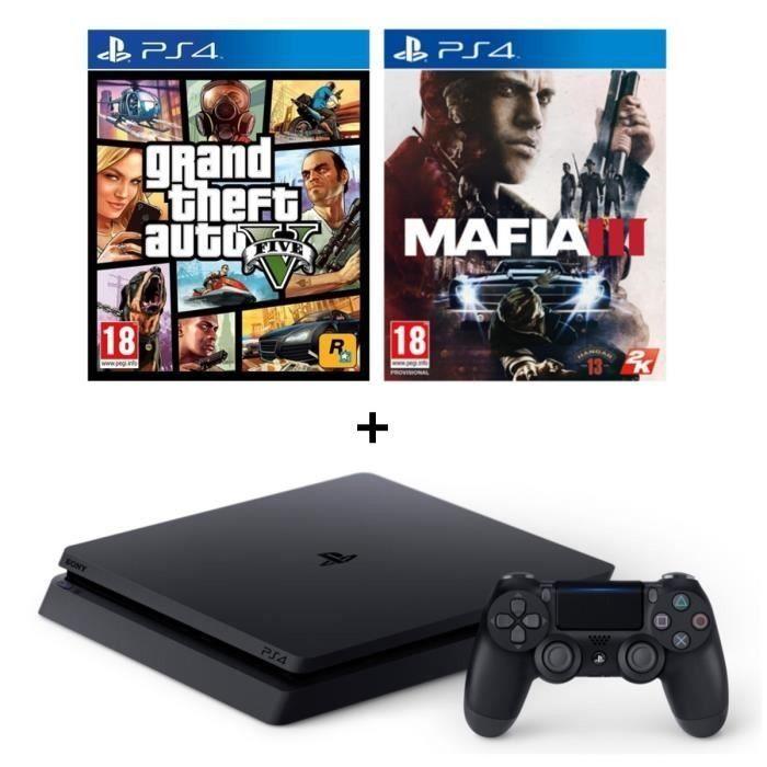 Sony Playstation4 500GB Slim Console With GTA V and Mafia 3