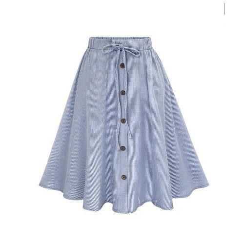 16f90f86e Neworldline Women Stripe Single-breasted Lace High Waist Plain ...