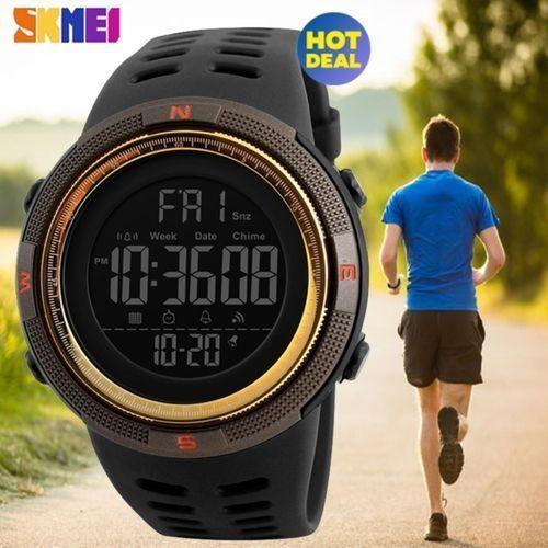 fa5e07b8310 Skmei  100% Genuine  2017 NEW SKMEI Men Sports Watches Countdown Double  Time Watch Alarm Chrono Digital Wristwatches 50M Waterproof Relogio  Masculino 1251