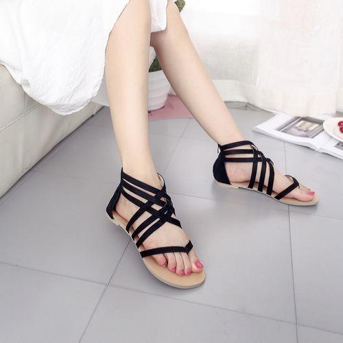 fdb49487b214e Buy Fashion Blicool Shop Women Sandals Women Bohemian Flat Sandals Shoes  Gladiator Flops Strap Flip Toe