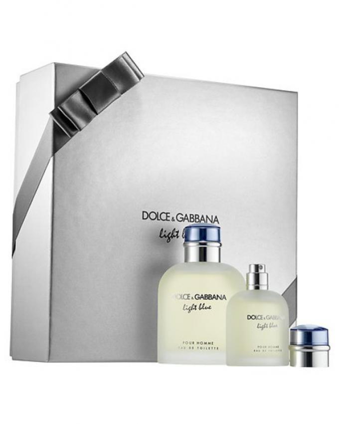e66d6645a82bf Dolce   Gabbana Light Blue EDT Set For Men 125ml + EDT 40ml Price in ...