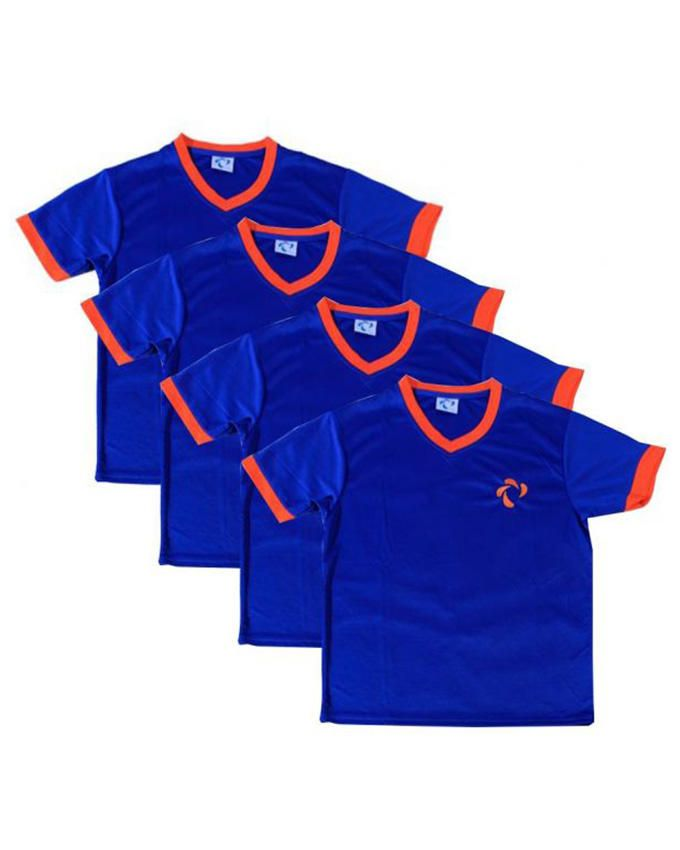 Didos DMTS-023 Men V Neck Team Shirt - Set Of 4 - Large