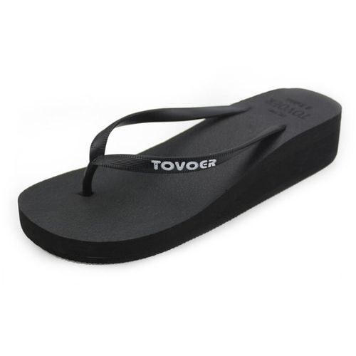 f7584c21cd4 Znu Women Mid Heel Wedge Platform Thong Flip Flops Sandals Beach ...