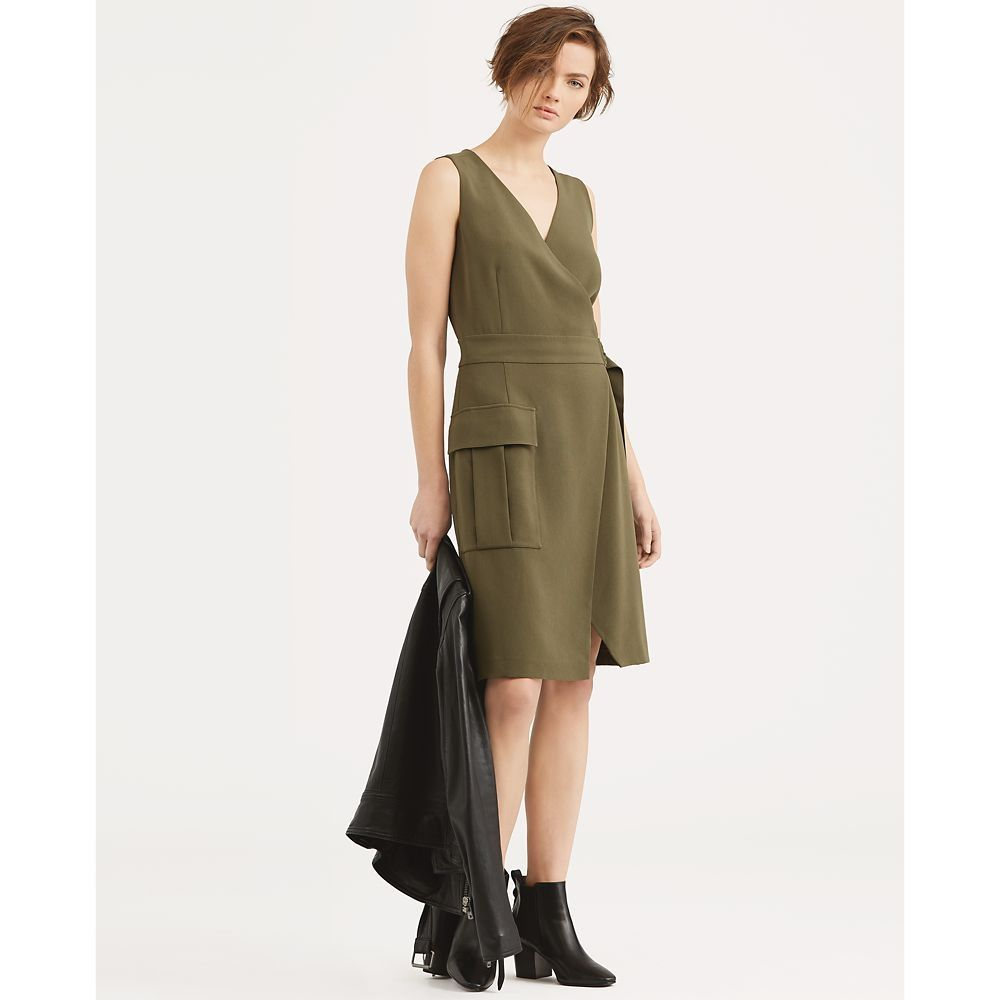 74d3a72ee سعر Polo Ralph Lauren Stretch Cady Wrap Dress فى مصر   جوميا ...