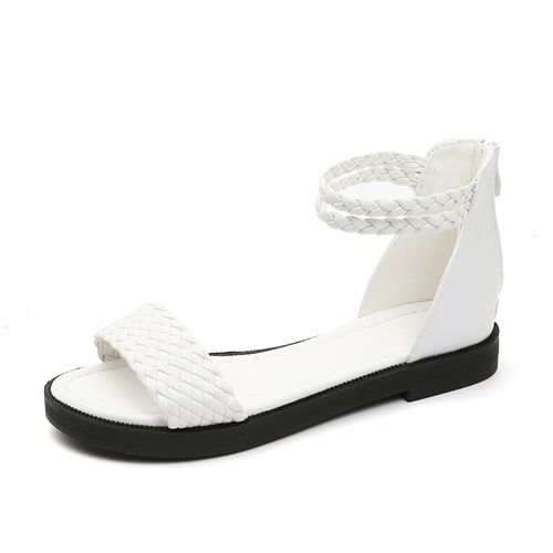 5525eee66b0 Fashion Women Strap Ankle Block Sandals Open Toe Party Dress Sandal-whiite
