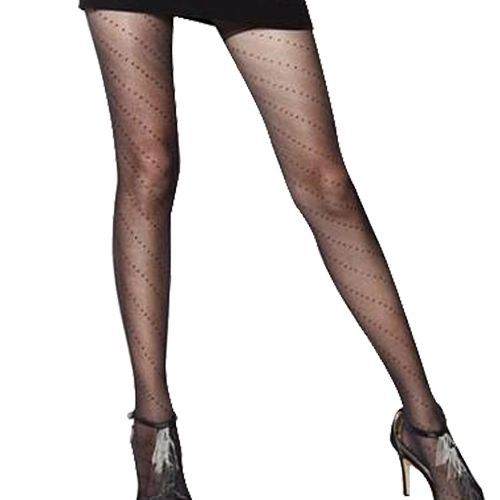 45131db0fcb Sanwood Women s Sexy Multi-Patterns Full Foot Thin Semi Sheer Tights  Pantyhose Stockings-Black Lip Print