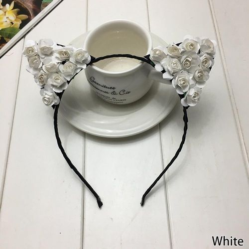 a65f10bb5f69 Fashion Tanson Fashion Rose Flower Cat Fox Ears Headband Hairband ...