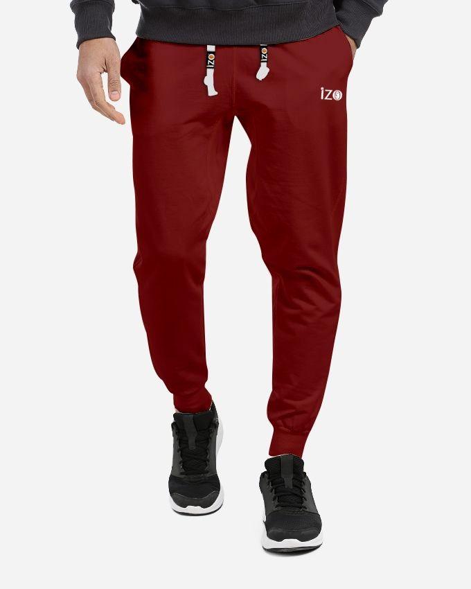 IZO Tshirt Summer  Sweatpants - Dark Red