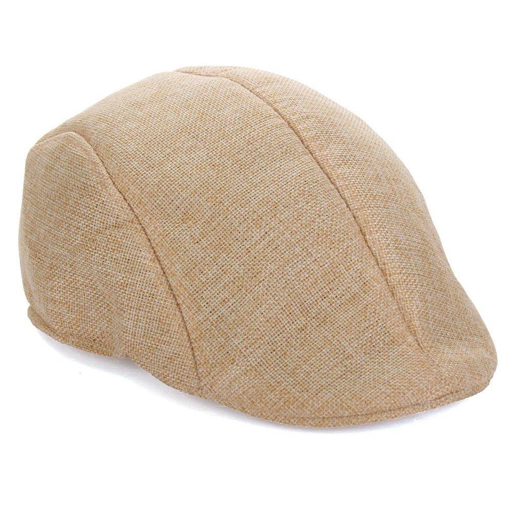 f7f0f1711db Fashion Mens Womens Duckbill Ivy Golf Cap Driving Flat Cabbie Newsboy  Gatsby Beret Hat Beige
