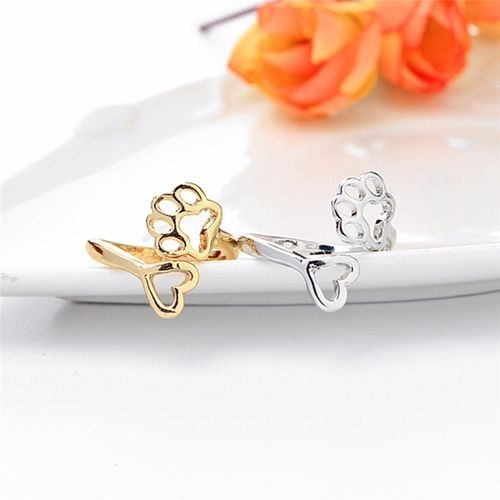 fd41a7642dcd3 Fashion Dog Owners Always By My Heart Fashion Adjustable Ring ...