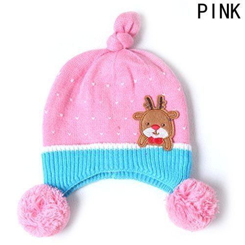 857dd4309e7 Fashion Lovely Baby Girls Boys Kids Dual Ball Knit Wool Sweater Cap Winter  Warm Hat