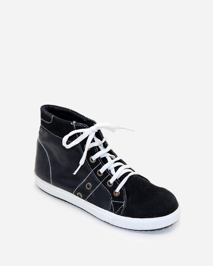 Tata Tio Women Hi-Top Sneakers - Black