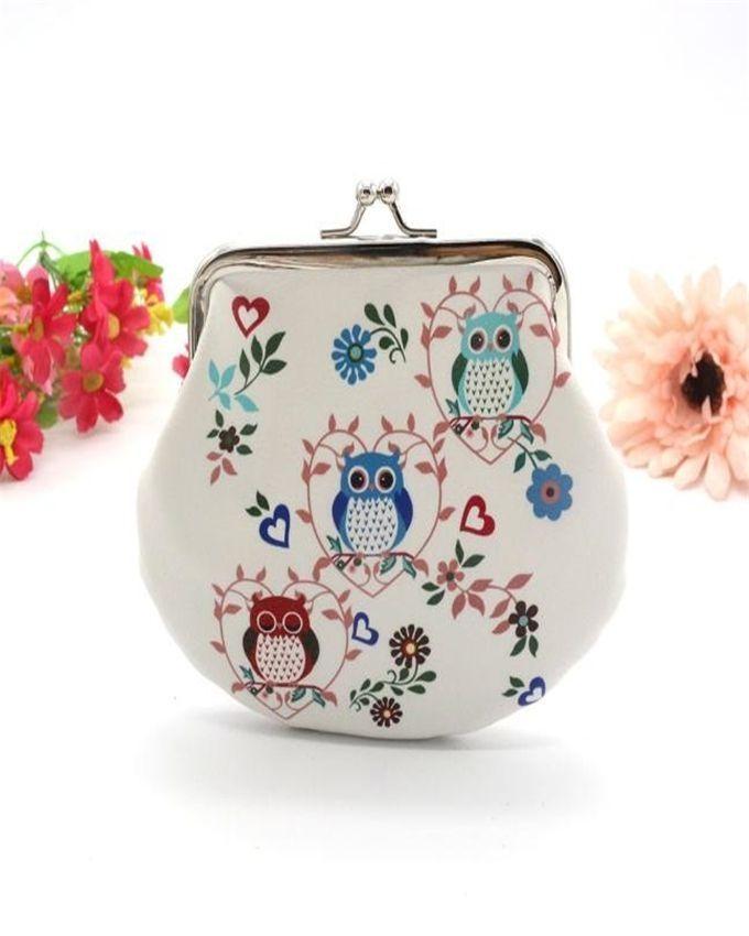 Neworldline Women Lady Retro Vintage Owl Leather Small Wallet Hasp Purse Clutch Bag 4