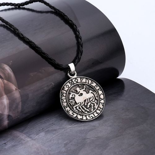 Generic Norse Viking Runes Amulet Necklace Pendant Sleipnir And
