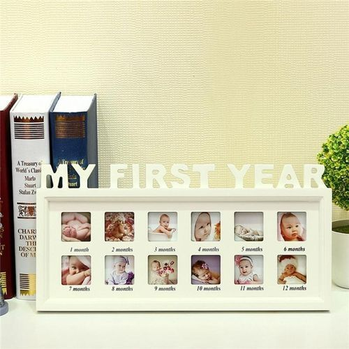 Universal Baby MY FIRST YEAR Photo Picture Frame Displa