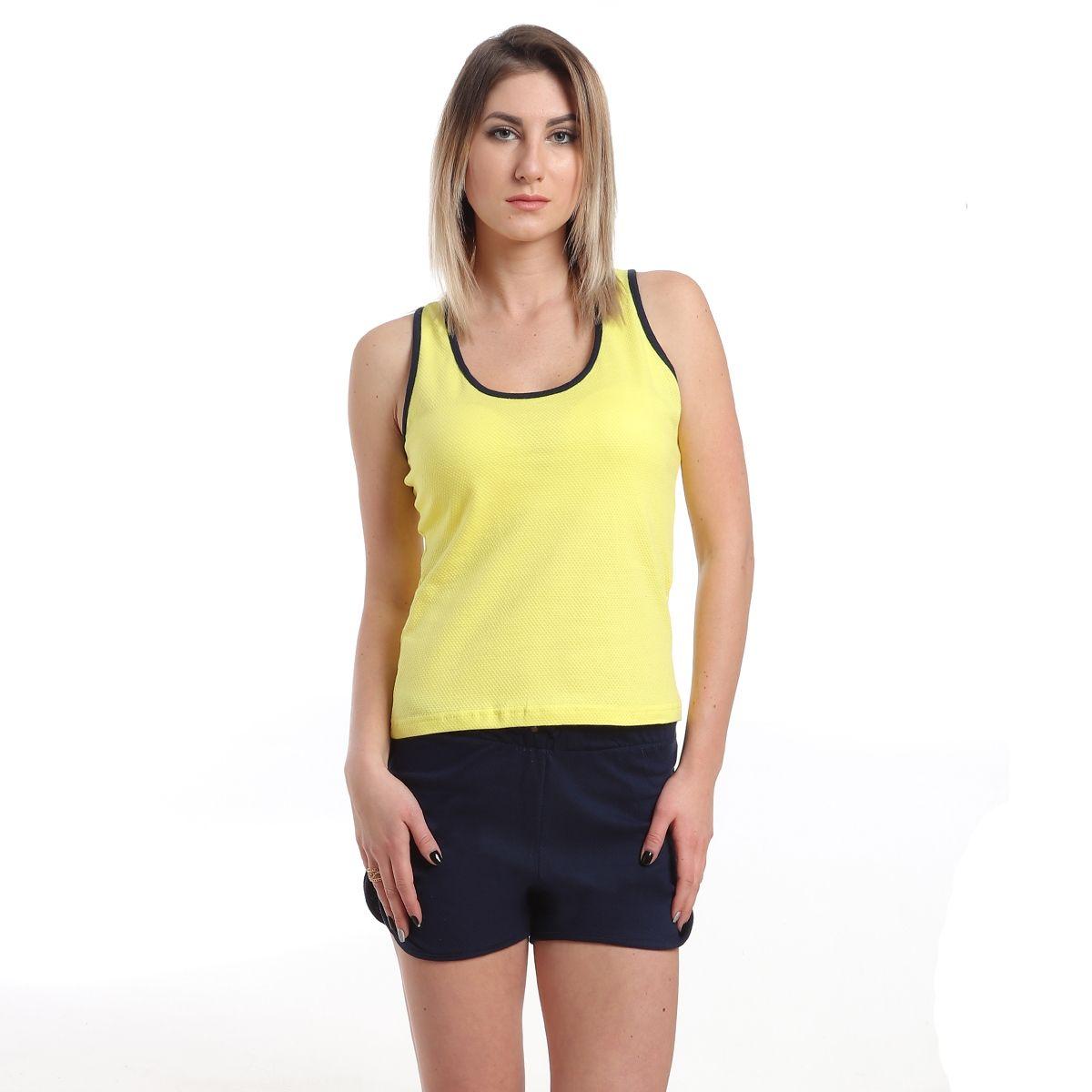 510f94678c92 Generic Pajama Cotton Hot Short - Yellow   Navy Blue