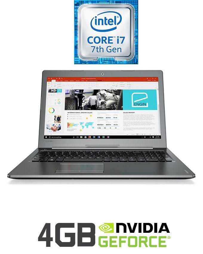 "Lenovo Ideapad 510-15IKB Laptop - Intel Core i7 - 8GB RAM - 1TB HDD - 15.6"" FHD - 4GB GPU - DOS - Gun Metal"