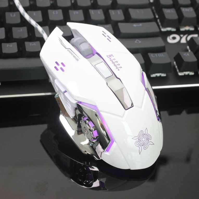 Mouse & Keyboards Ergonomic Mechanical Gaming Mouse 3200dpi 6 Buttons Computer Mouse Luminous Usb Wired Mouse For Pc Computer Laptop