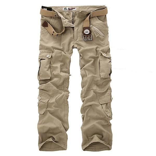 ec3aca5a42 Fashion ChArmkpR Mens Plus Size Outdoor Military Casual Multi ...