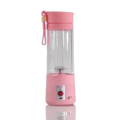 Universal 380ml USB Mini Fruit Juicer Handheld Extractor Smoothie Maker Blender Juice Cup Pink