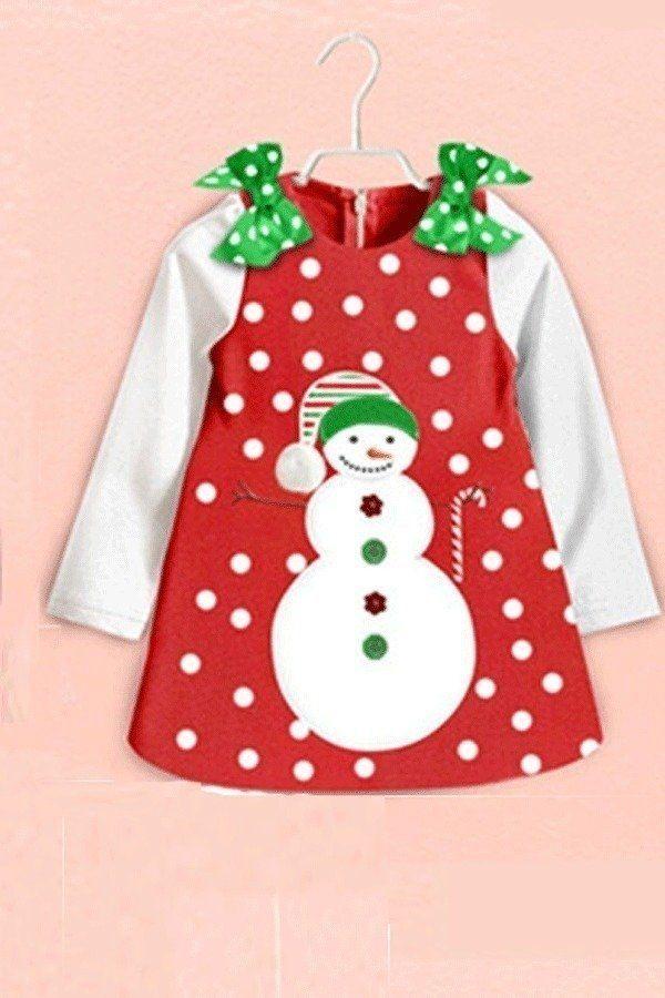 0e113adcf2c6 Sunweb Baby Girl s Long Sleeve Merry Christmas Cotton Dots Casual ...