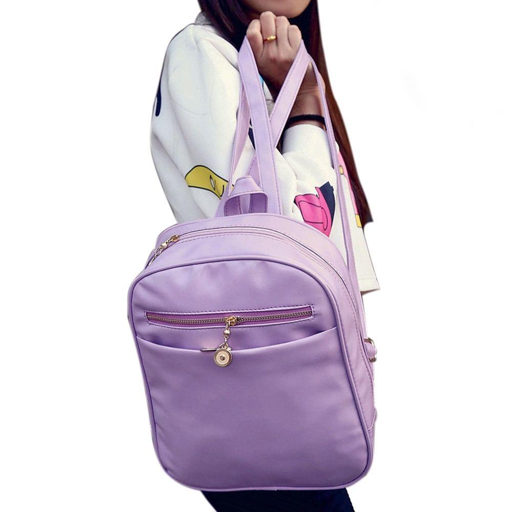 047d88281dcd Buy Generic Leadsmart Guapabien Ladder Lock Button Shape Zipper Head Solid  Color Portable Bag Backpack For