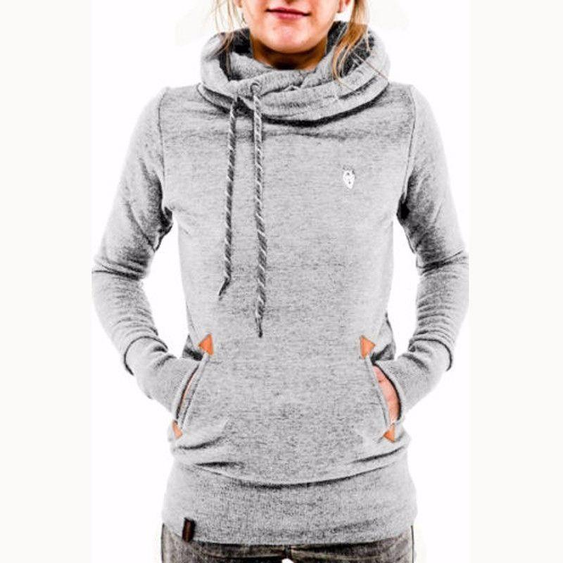 6025e0a378e Fashion ZANZEA Autumn Winter Hoodies Sweatshirts Women Casual Female Long  Sleeve Hem Split Hoody Pullovers Outwear Tops Plus Size (Grey)